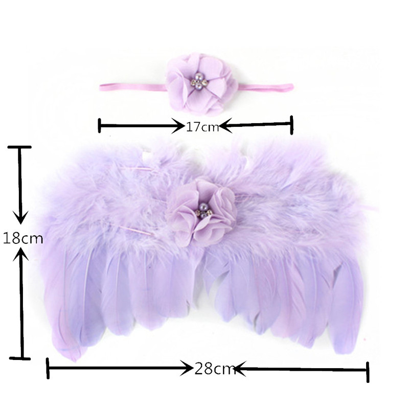 Newborn Baby Feather Lace Flower Pearl Headband /& Angel Wings Photograph Props