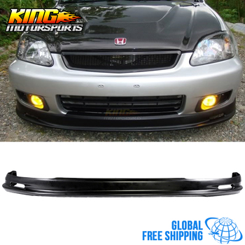 Fit For 1999 2000 HONDA CIVIC MUGEN STYLE FRONT BUMPER LIP SPOILER BODYKIT PP Global Free Shipping Worldwide