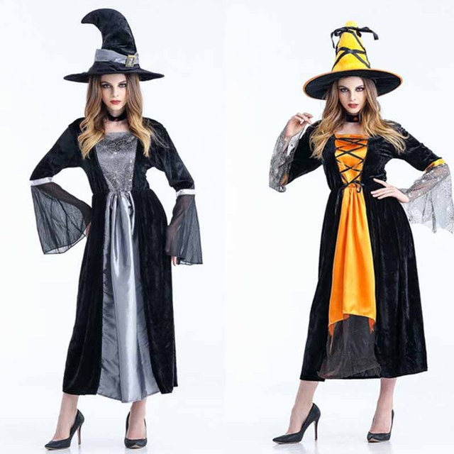 Costume Halloween Wicca Witch Medieval Dress Women Adult Plus Size ...