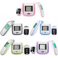3pcs Finger Pulse Oximeter kit Blood Oxygen Pressure Portable Sleep Monitor Meter Oximetro Thermometers Household Device