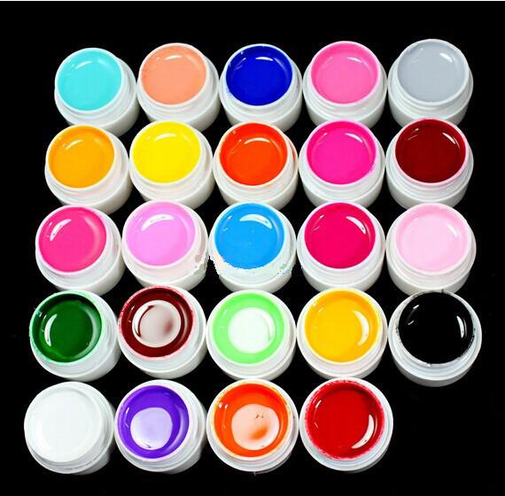UVGL017- 24 Color Solid Pure UV Builder Gel
