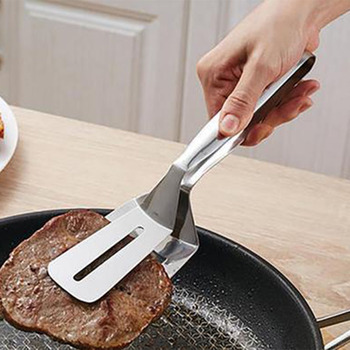 1 sztuk wielofunkcyjny wysokiej jakości grill ze stali nierdzewnej klip smażone łopata BBQ szczypce chleb mięso zacisk warzyw narzędzia kuchenne tanie i dobre opinie ULKNN Tokarstwo Łatwo czyszczone Odporność na ciepło Non-stick Metal STAINLESS STEEL Nie powlekany 19285 Stainless steel barbecue clip