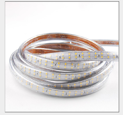 Outdoor 2835 SMD Brighter SMD Holiday Christmas Halloween LED Strip light Double Row 220V Decorative Tape White Warm White