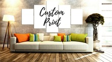 New Hot Sell 4 Panels Canvas Painting Customer Prints Picture Modern Home Decor Wall Artwork Framed Dropshipping Free Shipping