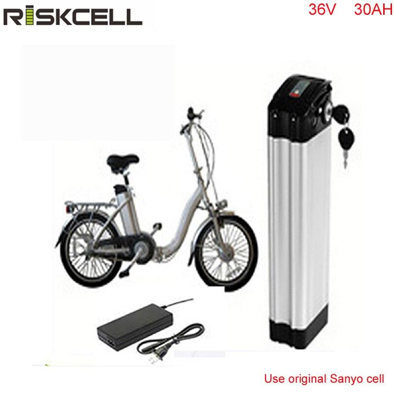 Lithium ion batterie 36 v 30ah vélo électrique argent poissons batterie 36 v 1000 w lithium ion batterie pack pour ebike avec Sanyo Cellulaire