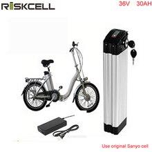Литий-ионный аккумулятор 36 В 30ah Электрический велосипед серебряные рыбы батареи 36 В 1000 Вт литий-ионный аккумулятор для ebike с Sanyo клеток