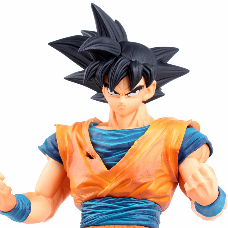 new 28cm Original black hair SON GOKOU resolution of soldiers GOKU Dragon Ball Z Figurine figure toy new 12pcs ancient toy soldiers