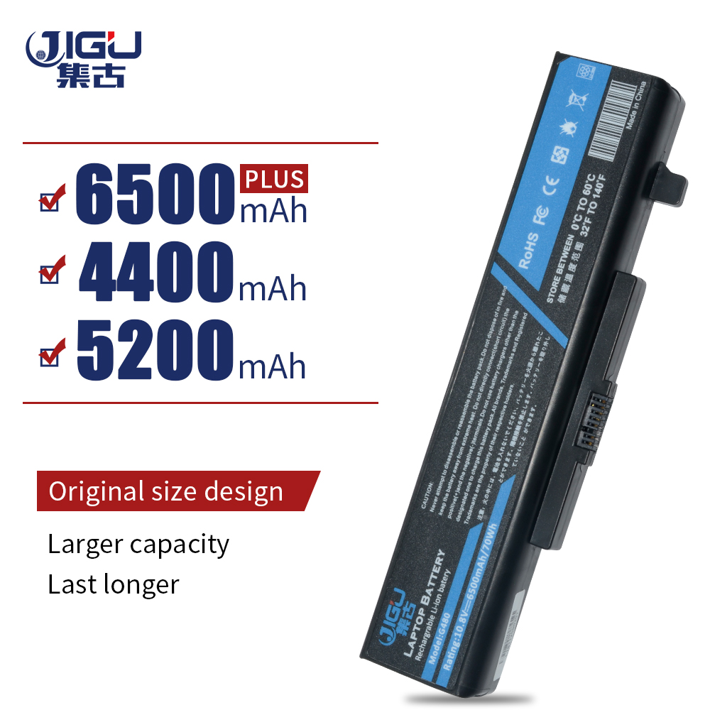 JIGU 6 CELLS Laptop Battery FOR LENOVO Y485 G480A G580 Z380A Y480N Y580N G485 G580AM Z380AM