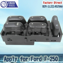 Factory Direct Auto Master Power Window Switch Driver Side Left LHD for Ford Mercury 1L2Z14529BA 11Pins