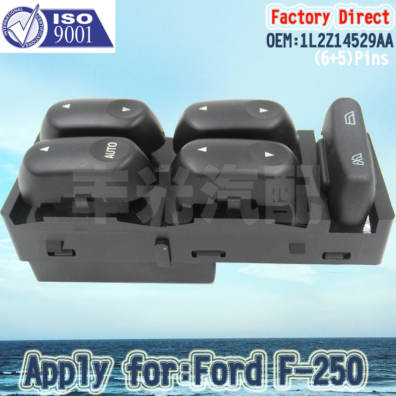 Factory Direct Auto Master Power Window Switch Driver Side Left LHD Apply for Ford Mercury 1L2Z14529BA 11Pins