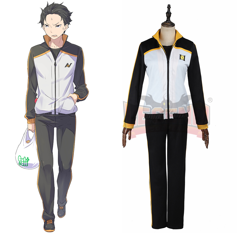 re zero Re0 Re: Life in a Different World from Zero Natsuki Subaru Cosplay adult costume full set