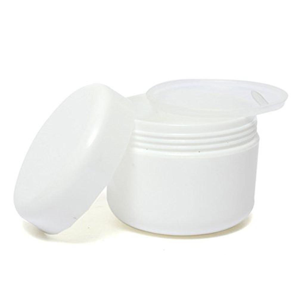 100Pcs Travel Face Cream Lotion Cosmetic Container 10g Plastic Empty Makeup Jar Pot Refillable Sample Bottles White