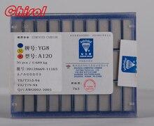 A120 top venda YG8 cimentado carboneto de inserção de soldagem cortador 30 pçs/caixa dicas brasagem lâmina ferramentas de torneamento externo