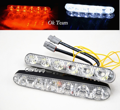 2 x High Power LED Daytime Running Light DRL Driving Lamp Turn Signal 12V Car Turn Lights External Lights high quality h3 led 20w led projector high power white car auto drl daytime running lights headlight fog lamp bulb dc12v