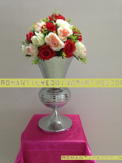 Aliexpress Buy Height 40cm 157 Silver Wedding Table Flower