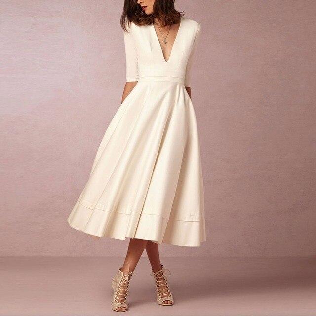 e7a4074b7853 Elegant Deep V Neck Red Dresses for Women formal Long Retro Dress 60s  Evening Party Dresses
