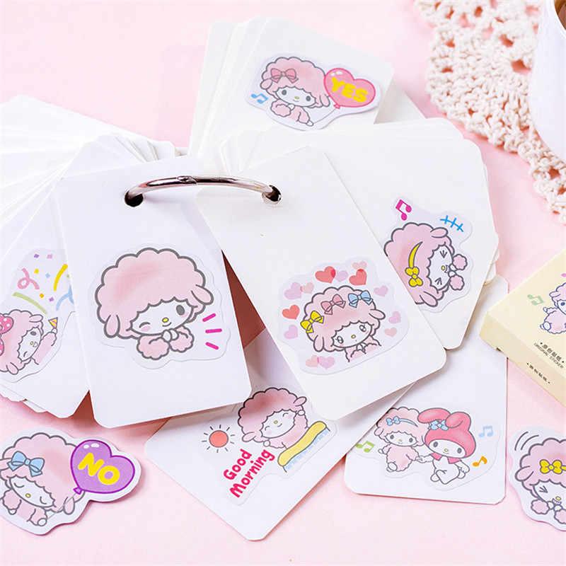 45 unids/set kawaii Bloc de notas de moda patrón de cordero lindo diario pegatinas planificador decoraciones de Navidad suministros escolares papelería