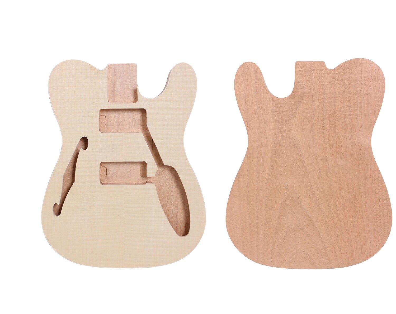 Corps de guitare inachevé pour Tele guitare électrique une pièce pièces de guitare en bois