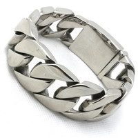 BC087 175g 25MM Man Polishing Cool Bracelet 316L Stainless Steel USA Biker Style Top Quality Hot Valentine's Day Gift