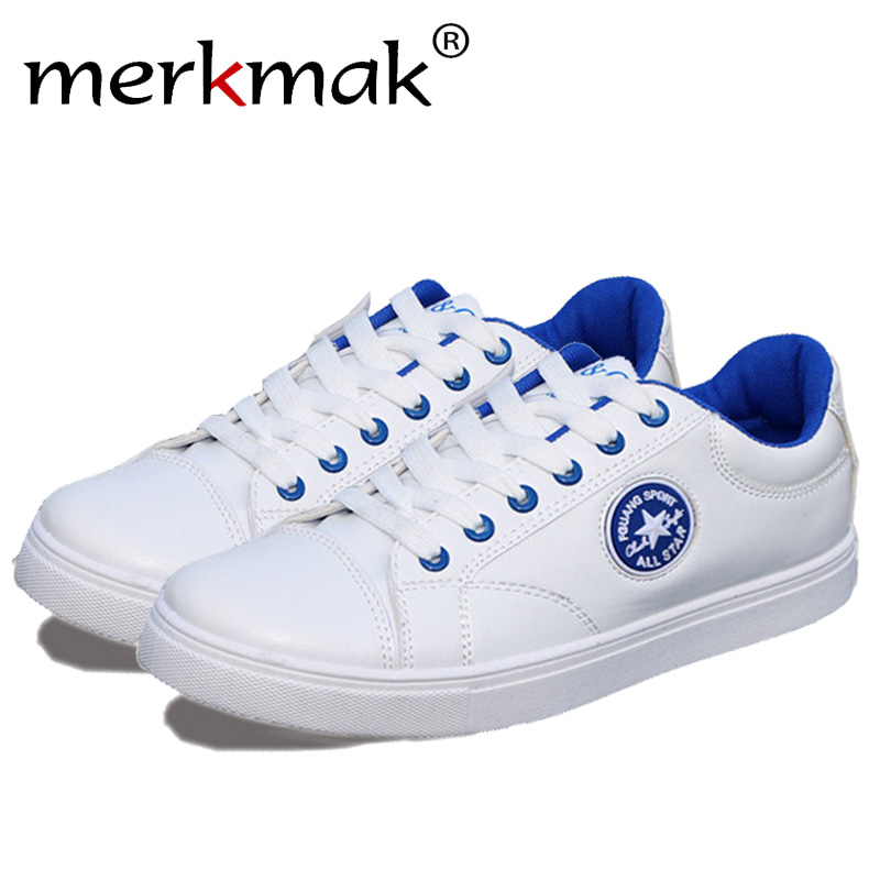 Merkmak Hot Sale Men Summer Shoes Spring Comfortable Breathable Sneaker Casual Lace-up Man Flats Outdoor Students Footwear Shoes denim shoes 2016 new arrival men s fashion breathable casual comfortable lace up shoes spring summer wear men seankers xmf265