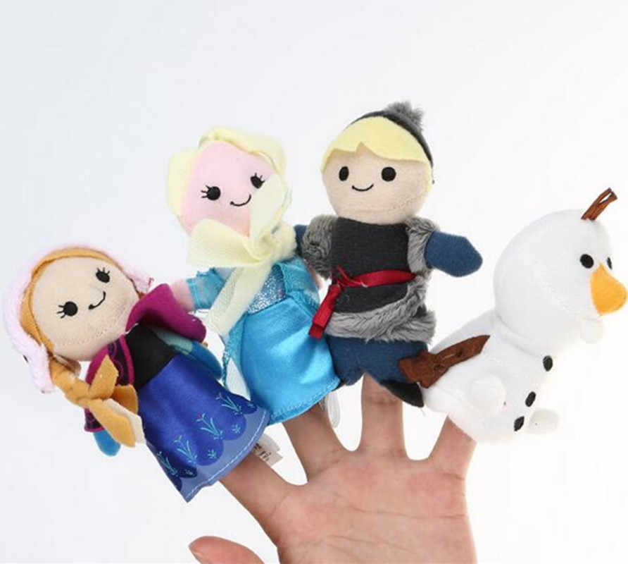 Baby Plush Doll Finger Puppets Toys Unique Gifts Cute Girls Toys Princess Anna& Elsa Birthday Gifts  Finger Toys
