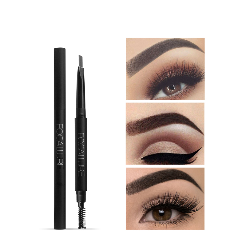 Focallure 2 in 1 eyebrow pencil makeup 3 style paint for eyebrows brushes cosmetics brow eye liner tools brow pencil cosrx triple c lightning liquid review