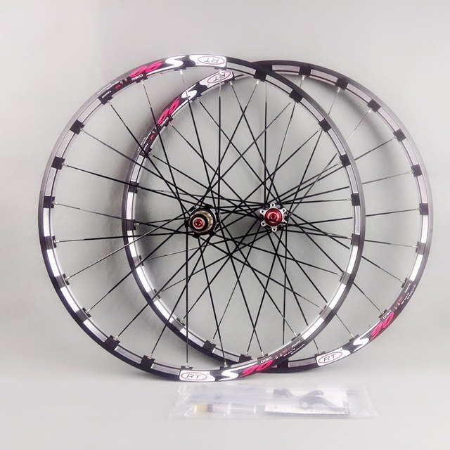 Cheap  2017 newest mountain bike bicycle Milling trilateral RT front 2 rear 5 bearing japan hub super smooth wheel wheelset