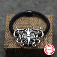 S925 Sterling Silver Headband Personality Retro Hip Hop Punk Style Hair Accessories To Send Lover S