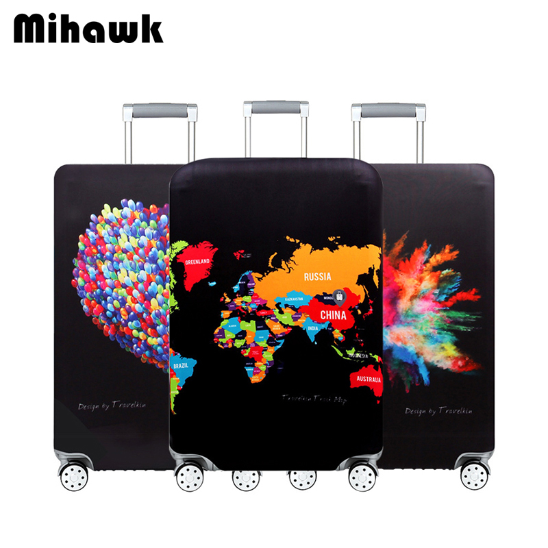 Mihawk Personality Travel Thicken Elastic Suitcase Cover Waterproof Luggage Protective Case Protect Dustproof Wear Trolley Stuff