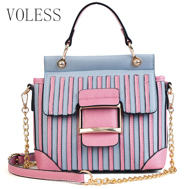 2018 New Casual Crossbody Bag For Women PU Leather Luxury Handbags Women  bags designer Fashion Plaid Ladies Shoulder Messenger-in Top-Handle Bags  from ... a53f980ac4f78
