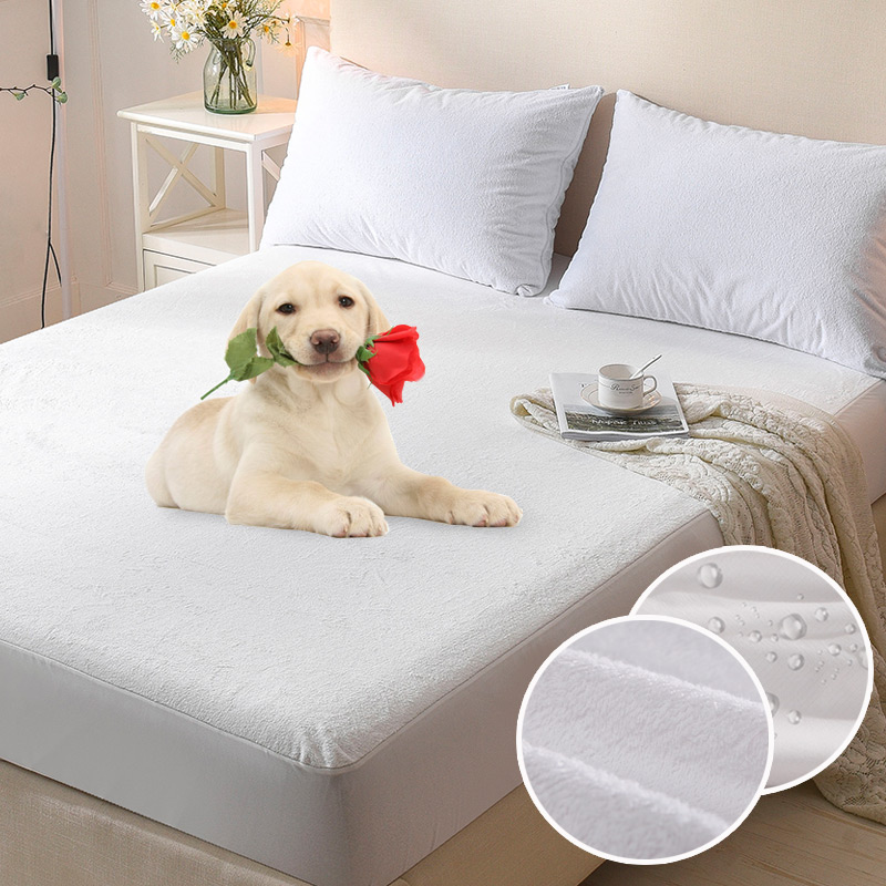 Bed Waterproof Cover 140x200+28cm Terry Waterproof Mattress Protector Cover for Bed Wetting and Bed Bug Suit For Russian Size