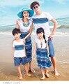 2017 praia de areia verão boêmio camiseta dressclothes clothing família mãe e filha roupas família correspondência olhar 029jy