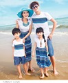 2017 summer sand beach bohemian t shirt dressclothes mother and daughter clothes matching family clothing  family look 029jy