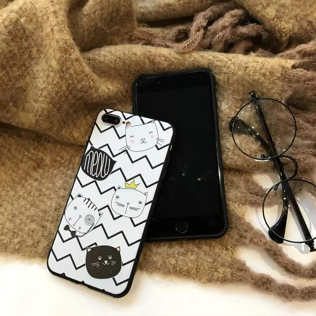 Phone Cases For Oppo F7 3D Relief Cute Cat Soft Cases For Oppo A9 Cartons  Silicone 710d4a97d0cf