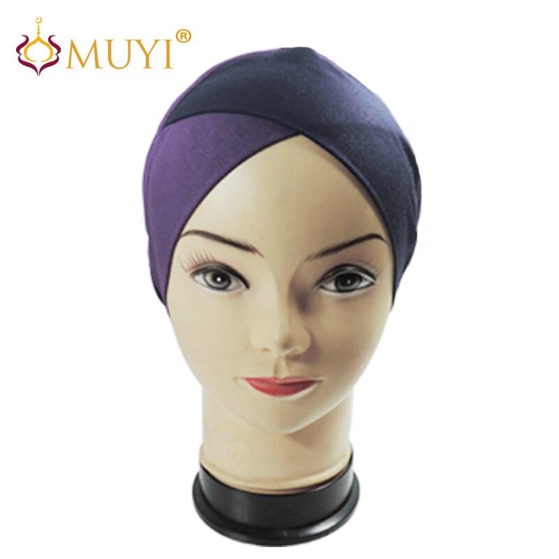 Nouveau Musulman Underscarf Cap Intérieure Headcoving Bonnet Islamique  Hijab Caps Modal Wholesael 12 pcs Une Douzaine