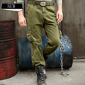 New Arrival Men's Military Casual Overalls Male Water Wash Plus Size Long Trousers