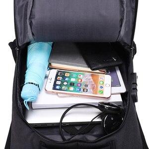 Image 5 - Rucksäcke Männer Multifunktions USB Lade 15,6 zoll Laptop Rucksäcke Für Jugendliche Reisen Rucksack Anti Dieb Mode Männlichen Mochila
