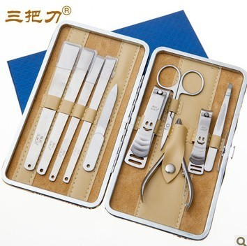 Free shipping! Knife finger cut finger plier nail clipper set yangzhou pedicure knife tools 10 piece set