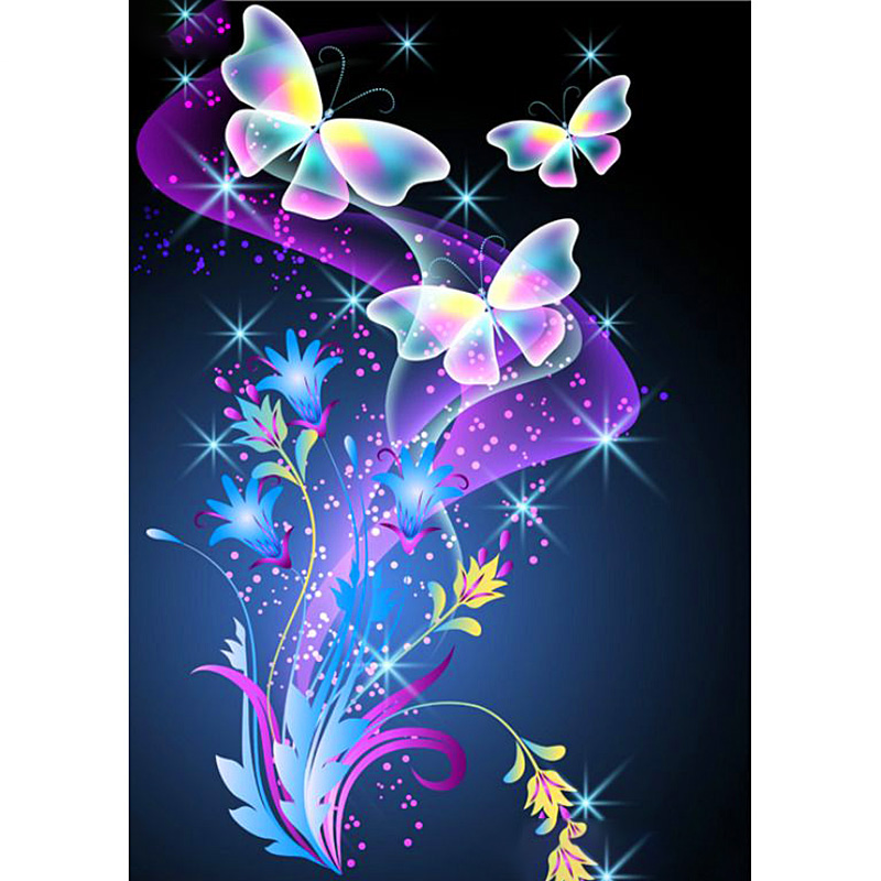 Full Round Drill 5D DIY Diamond Painting Animal Butterfly Diamond Embroidery Christmas Gift
