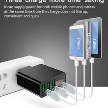 Новое 3 USB зарядное устройство QC3.0 3 порта быстрое зарядное устройство EU штекер зарядное устройство для мобильного телефона samsung iPhone Xiaomi путешествия настенный адаптер