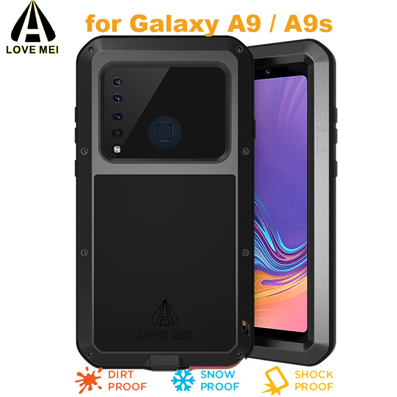 A9 S LOVEMEI Life Waterproof Powerful Metal Case for Samsung Galaxy A9 Lite Luxury Aluminum Dirtproof Shockproof for Samsung A9S