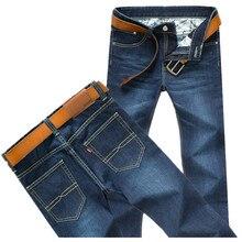 Herren jeans männer große größe männlichen mode dünne beiläufige cowboy hose Blau cowboy hosen übergrößen