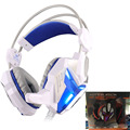 EACH G3100 Vibration Function Pro Gaming Headphone Games Headset with Mic Stereo Bass LED Light 7.1 Surround Sound For PC Gamer