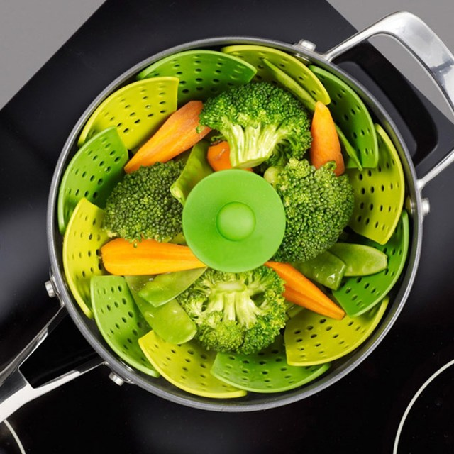 Steamer Silicone Foldable Vegetable Fruit Bowl useful gadgets