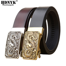 Famous Brand China Dragon Buckle Belt Men Cowskin Genuine Luxury Leather Men's Belts for Men,Strap Male Metal Automatic Buckle цена 2017