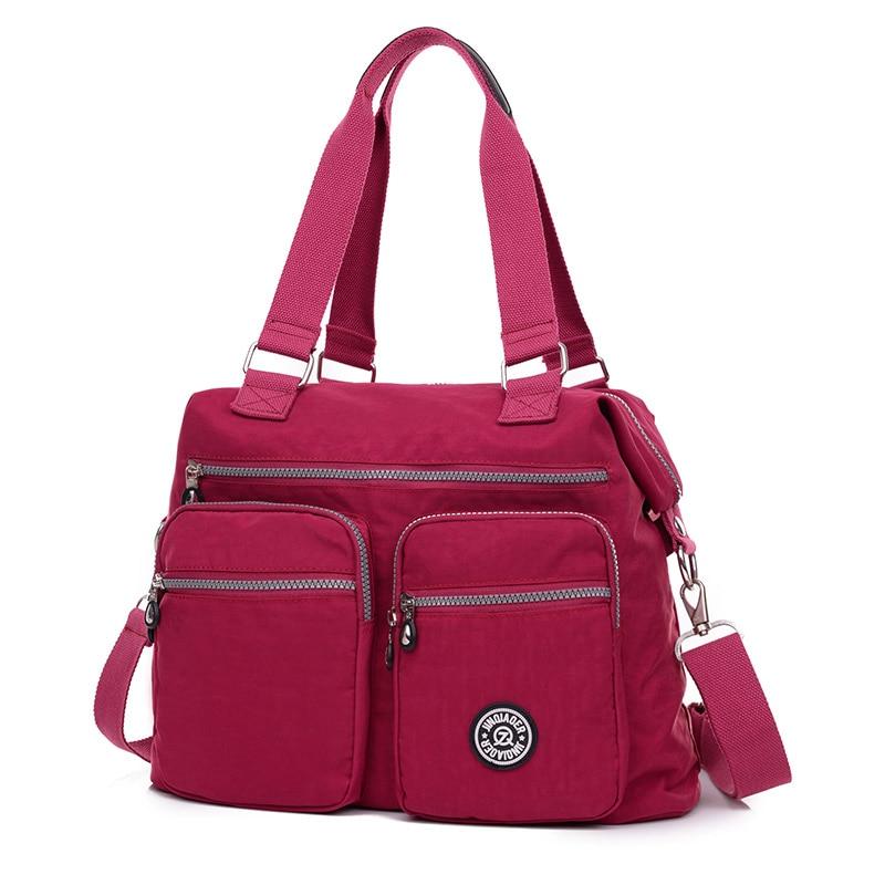 Fashion Brands women 39 s waterproof nylon crossbody shoulder bag large capacity bag high quality handbag women tote messenger bags in Shoulder Bags from Luggage amp Bags