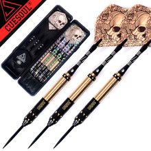 New CUESOUL 23g 25g 27g Professional Steel Tip Darts Golden And Black Dart Body With Dart Flights(China)