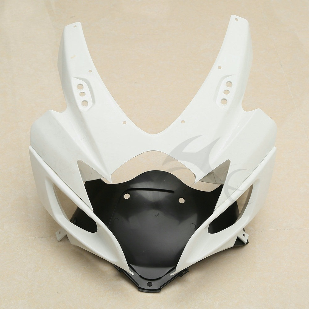 Motorcycle ABS Unpainted Front Upper Fairing Cowl Nose For Suzuki GSXR 600 750 2006 2007 K6 abs injection front upper fairing front cowl nose for honda cbr 600 rr 600rr 2007 2008 unpainted