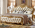Top genuine leather bedding  0409-0319