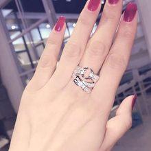 Moda estilo coreano zircônia cinto anel para mulheres nupcial jóias de luxo meninas fantasia anel